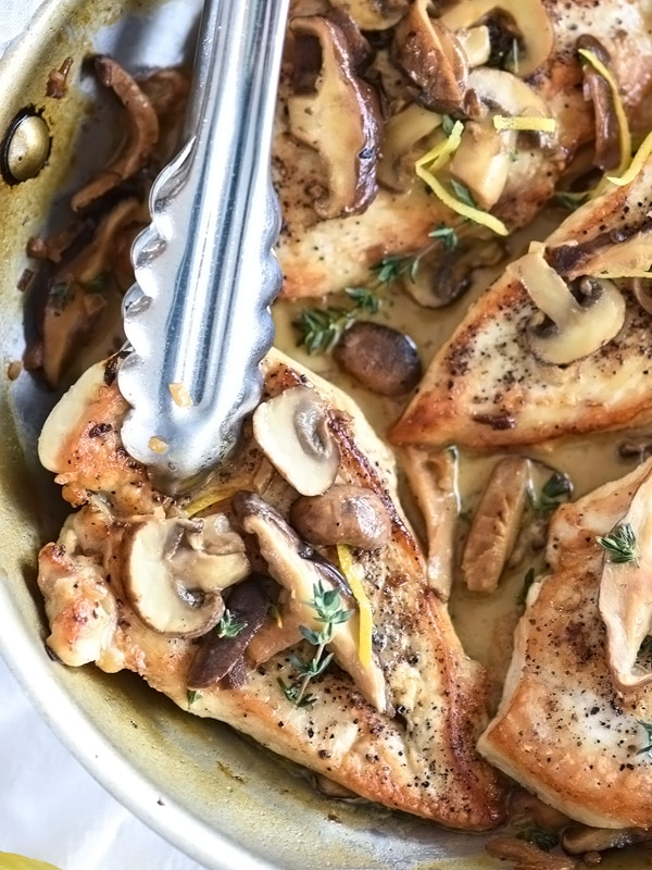 Easy Chicken Breasts with Creamy Mushroom Sauce